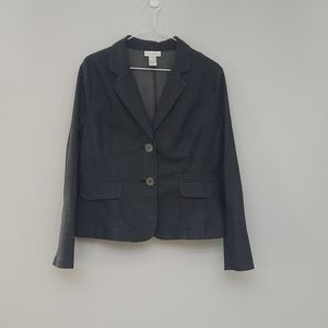 Fashion Bug Denim-style Cotton Blazer Sz 12